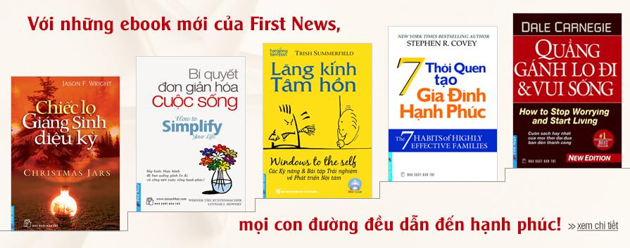 Với những ebook mới của First News, mọi con đường đều dẫn đến hạnh phúc.